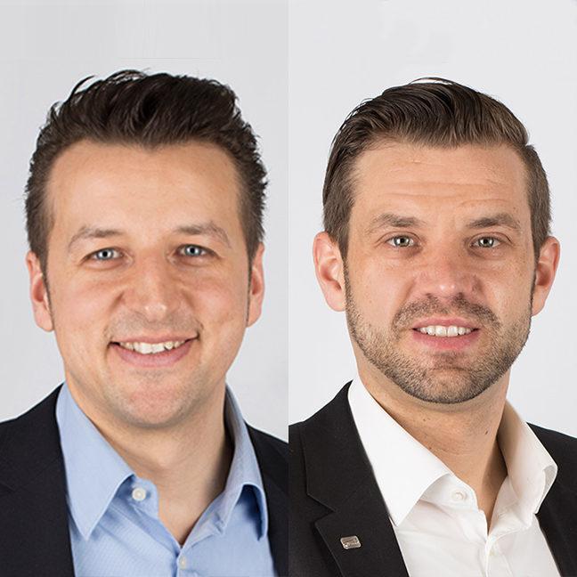 Dennis Jacobi und Dominik Feilen